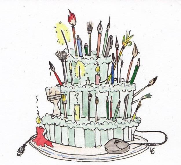 С днем рождения художнику картинки чудо пятнышках